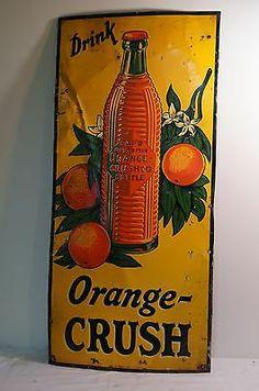 Crushing on you. Vintage Tin Signs, Vintage Tools, Vintage Stuff, Call Orange, Orange You Glad, Vintage Advertisements, Vintage Ads, Crush Signs, Retro Posters