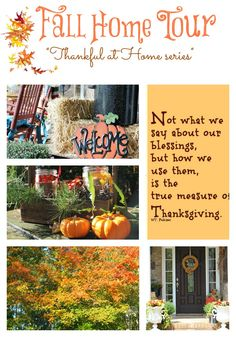 #fall- #home- #tour- Thankful- at- Home -series