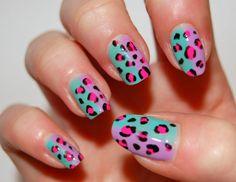 Cute Cheetah Print Nails for Girl
