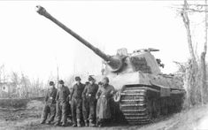 Crew members posing with their King Tiger while serving with the 3rd Schwere Panzer Abteilung 503