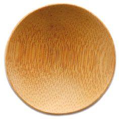 Round Bamboo Dish - 2.25 inch diameter