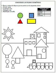 Shapes Worksheets, Kindergarten Math Worksheets, Worksheets For Kids, Math 2, Preschool Kindergarten, Printable Worksheets, Preschool Printables, Free Printable, Preschool Writing