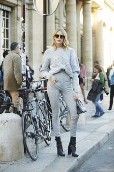 Неделя моды в Париже, весна-лето 2016: street style. Часть 2 (фото 14)