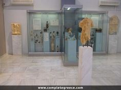 The Eretria Archaeological Museum is located next to the archaeological site of Eretria. The findings are dated from the Bronze Age to the Roman Period. Archaeological Site, Bronze Age, Greece Travel, Travel Guide, Museum, Places, Ancient Greece, Greece Vacation, Tour Guide