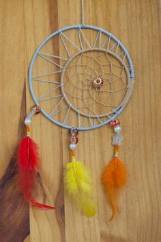 Moon and Sun Dreamcatcher / Handmade Dream Catcher /