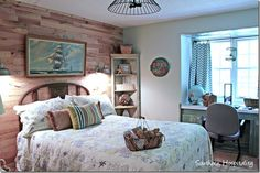 anyone recognize this ship picture? Painted Vanity, Feng Shui Bedroom, Boy Girl Room, Hanging Beds, Floral Shower Curtains, Bedroom Plants, Southern Hospitality, Painting Cabinets, Southern Living