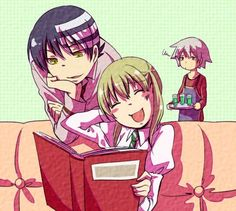 Soul Eater - Death the Kid, Maka, and Soul