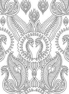 Creative Haven Mehndi Designs Coloring Book: Peacocks Pattern Coloring Pages, Coloring Book Pages, Coloring Sheets, Doodle Coloring, Mandala Coloring, Creative Haven Coloring Books, Coloring Pages For Grown Ups, Mandala Pattern, Colorful Drawings