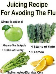 Juicing recipe for avoiding the flu