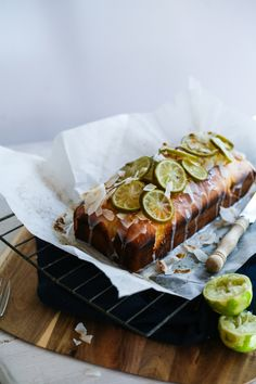 Tasting Spring ~ Lime & Coconut Loaf Cake – Daisy and the Fox Just Desserts, Delicious Desserts, Yummy Food, Baking Recipes, Cake Recipes, Dessert Recipes, Coconut Loaf Cake, Snacks, Let Them Eat Cake
