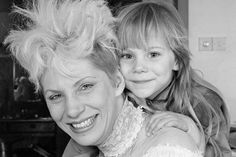 Angie Bowie with her and David Bowie's son Zowie