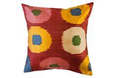 Ikat Target 18x18 Pillow, Multi on OneKingsLane.com