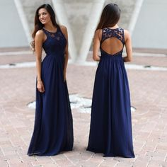 """859 Likes, 19 Comments - Saved By The Dress (@savedbythedress) on Instagram: """"❤️We are going CRAZY for this amazing maxi dress with lace in the elegant navy!❤️ Get yours at…"""""""