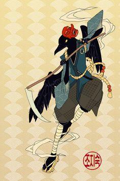 I feel that the Japanese Tengu can represent the European fairies. So that this…