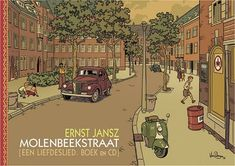 Van Dongen designed the covers for musician Ernst Jansz's album and autobiographical book, both titled Molenbeekstraat. Ligne Claire, Bd Comics, Comic Page, Graphic Design Posters, Illustrations Posters, Art Reference, Illustrators, Novels, Comic Books