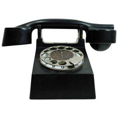 """Bauhaus"" Phone 1929 at Schrift Design, Antique Phone, Retro Phone, Art Deco, Bauhaus Design, Vintage Telephone, Old Phone, Best Phone, Vintage Industrial"