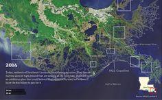 Watch how Louisiana's coastline has vanished over the last 80 years - Vox