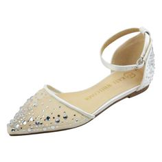 e9de98031a Wedding Flats & Low Heel. Wedding Flats Rhinestone Bridal Shoes - Elle Ivory  - Kate Whitcomb Shoes
