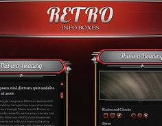 """Check out new work on my @Behance portfolio: """"Retro Info Boxes"""" http://be.net/gallery/33347479/Retro-Info-Boxes"""