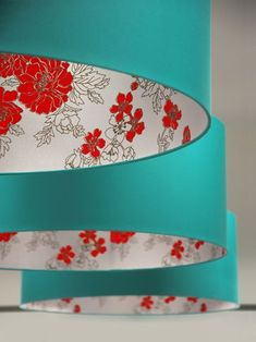 Florence Broadhurst - Gardenia great idea, line lamp shades with amazing wallpaper
