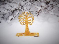 Wooden Jewelry stand Tree wooden Jewelry holder  by CinkyLinky  We designed this jewelry holder so as you can store and display your jewelry in a beautiful and practical way. You can use this lovely home decoration as a holder for your earrings of all types. There are also little holes for you stud earrings. You can also hang your necklaces on it which makes it a perfect alternative to a jewelry box.  #jewelry #holder #stand #wooden #home #decor #tree
