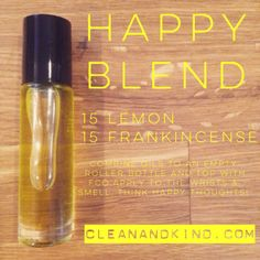 Roller Ball Remedies - with Family Physician Kit oils - Happy Blend #lemon #frankincense #doterra
