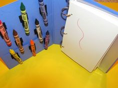 Crayon busy book