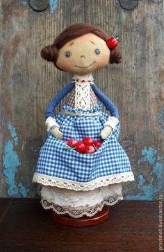 Коллекционные куклы ручной работы. Ярмарка Мастеров - ручная работа День со вкусом вишни. Handmade.