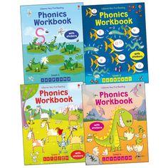 Usborne Phonics Workbooks Pack x 4