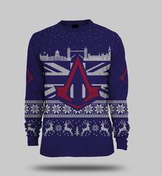 Assassins Creed ® Official Unisex Knitted Christmas Jumper Medium  Clothing