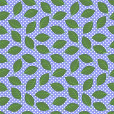 Leaves and dots on periwinkle (Melody's Zinnias) fabric by shellypenko on Spoonflower - custom fabric