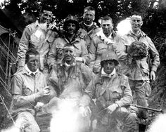 Easy Company officers getting ready to jump into Normandy