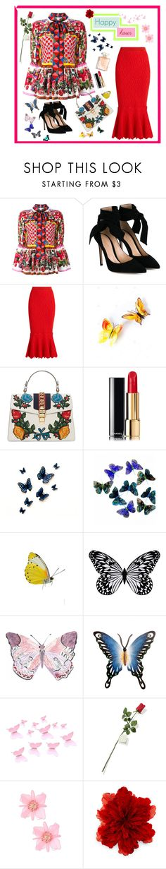 """""""Untitled #31"""" by ngockhanh ❤ liked on Polyvore featuring Dolce&Gabbana, Gianvito Rossi, Jonathan Simkhai, Gucci, Chanel, Visionnaire, NOVICA and Hanky Panky"""