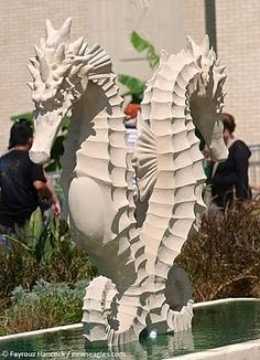 beautiful seahorses in love | 2010 State Fair of Texas