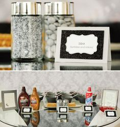 Glam 50 Shades of Grey Themed Birthday. Don't actually like the 50 shades theme just the decor