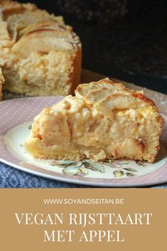 Cake Recipes, Vegan Recipes, Cooking Recipes, Low Carb Desserts, Healthy Desserts, Vegan Pie, Vegan Treats, Snacks, Vegan Baking