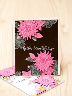 Hey everyone! I have another card using a few supplies fromSimonSaysStamp.comto share with you today. So today I'm sharing two feminine cards using Mama Elephant and Simon Says Stamp Flower…
