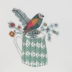 Applique, free-machine embroidery and stitch pattern work by Bev Holmes-Wright @ www.Stitchingforthesoul.co.uk