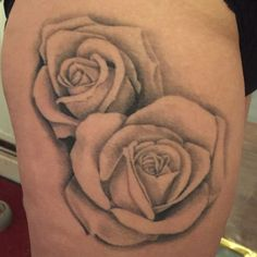 My rose tattoo on my thigh