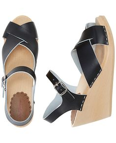 Swedish Wedge Sandal Clog By Hanna - ON SALE