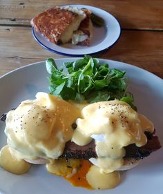 Brisket Benedict and Grilled cheese sandwich at Morty & Bob's, London Fields.