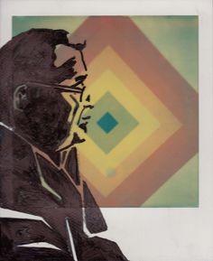 Beautifully drawn Portrait of Paul Giambarba    AUTHOR: Carsten Woywood   TITLE: Paul Giambarba   FILM: PX 70 Color Protection   CAMERA: SX70 folding