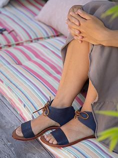 """This week's Sweet Treat is the fab Cliff Dweller Emma! Tie up the blues for 20% off by clicking """"be sweet to your feet"""" at the bottom of the box on the left of most pages at www.pedshoes.com! xo, Ped Shoes."""