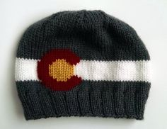 This item is unavailable Knitting Projects, Knitting Patterns, Mountain Hat, Knit Crochet, Colorado, Charcoal, Flag, Beanie, Etsy Shop