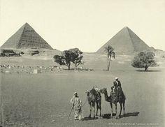 Pyramids - egypt 1870