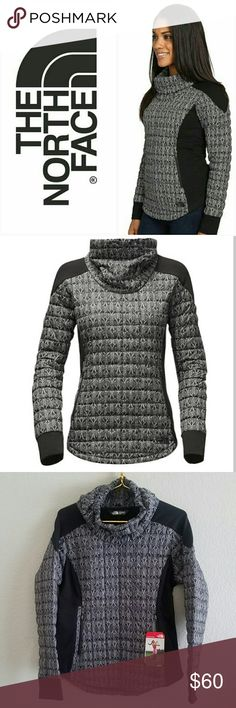 The North Face Thermoball Pullover- NWT New with tags. Size medium. Zippered opening in front near waist.  Product Details:  This athletic hybrid delivers ultralight warmth and unhindered mobility for cold training conditions with ThermoBall? insulation at the core and soft fleece at the sides and sleeve. The North Face Jackets & Coats