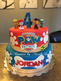 7 Awesome Paw Patrol Party Ideas for Your Kids' Birthday Fun Looking for an exclusive theme for your kids' birthday party? The Paw Patrol could be one of the coolest inspirations that might exceed your expectation. Bolo Do Paw Patrol, Paw Patrol Torte, Cake Disney, Paw Patrol Birthday Theme, Happy 2nd Birthday, Cake Birthday, Birthday Ideas, Birthday Snacks, Birthday Activities