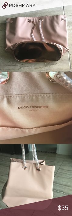 Paco Rabanne Parfums Purse New. Authentic Paco Rabanne Parfums Nude Purse. Got it as a gift and never even unwrapped the shoulder straps. Lovely for everyday wear!! Ready to be shipped to you! Paco Rabanne Bags Shoulder Bags