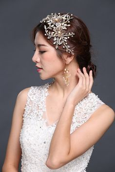 HailieStudio Handmade Women's Swarovski Pearls Rhinestones Crystal Bride Bridesmaids Hair Comb *** You can get more details by clicking on the image.