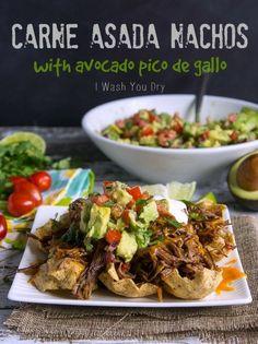Carne Asada Nachos with Avocado Pico de Gallo